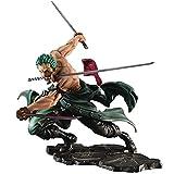 LIUXIN Retrato de Piratas de una Pieza: Figura de PVC de Sa-MAX Roronoa Zoro, Estatua de Personaje de Anime - Alto 21 CM
