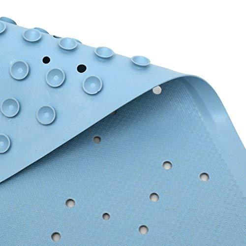 Lora Bella Badewanneneinlage in blau - 36x97 cm - die extra lange Premium antirutsch Badewannenmatte aus hochwertigem Naturkautschuk - ohne PVC