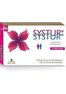 Systur Arandano Rojo Americano Con Prebiotico Y Extracto De Canela - Elimina La E. Coli - Cistitis Recurrente - Intensivo 5 Días - Bienestar Urinario - 20 Capsulas, 21 g