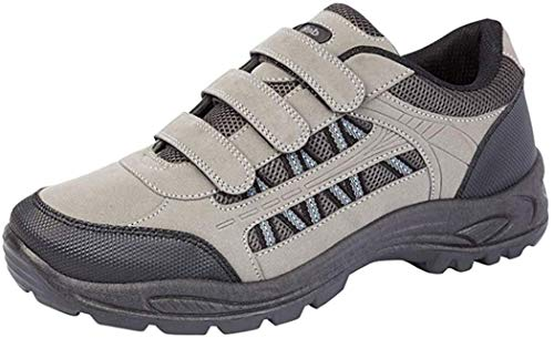 Mens Grey and Black Triple Touch Fastening Trail Shoe Ascend GreyBlack size UK Mens Size 11