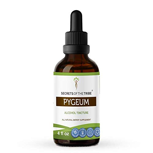 Pygeum Tincture Alcohol Extract, Wildcrafted Pygeum (Pygeum Africanum) Dried Bark (4 FL OZ)
