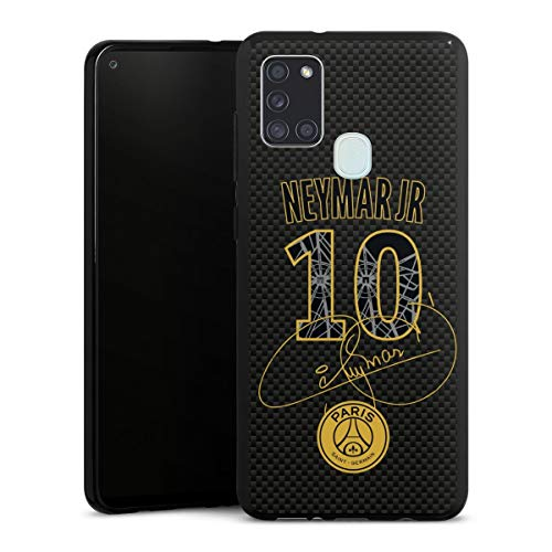 DeinDesign Silikon Hülle kompatibel mit Samsung Galaxy A21s Case schwarz Handyhülle Neymar Jr. PSG Paris Saint-Germain