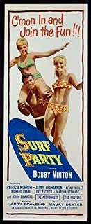 SURF PARTY BOBBY VINTON TEEN BEACH PARTY 1964 ORIGINAL INSERT 14X36 MOVIE POSTER ROLLED
