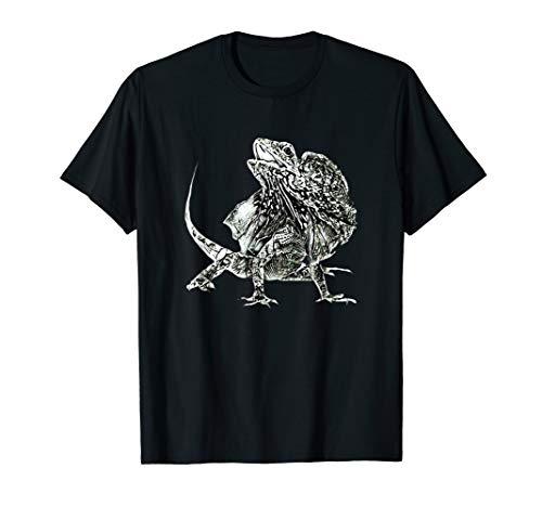 Kragenechsen Shirt Chlamydosaurus Damen Herren Kinder T-Shirt