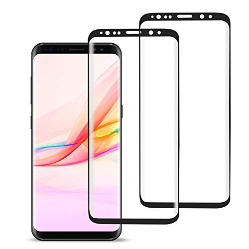 [2 Pack] MSLAN Galaxy Note 8 Screen Protector,3D Curved Tempered [Anti-Bubble][9H Hardness][HD Clear][Anti-Scratch][Case Friendly] Glass Screen Film Compatible Samsung Galaxy Note 8 Black