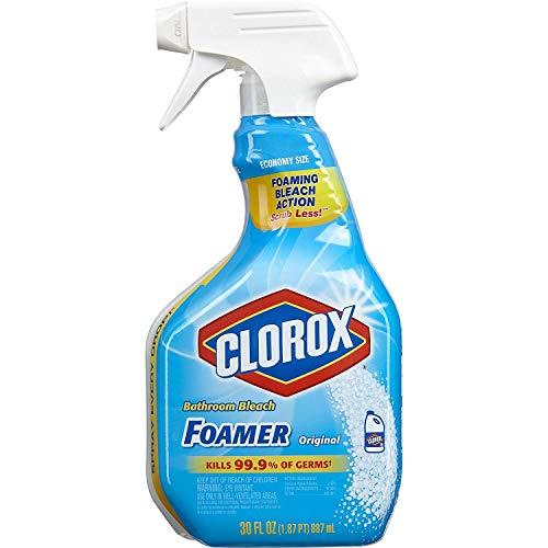Clorox Bathroom Foamer with Bleach, Spray Bottle, Original, 30 Ounces (Pack of 3)