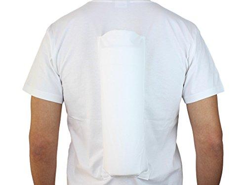 Comfort Anti-Schnarch-Shirt zur Verhinderung der Rückenlage im Schlaf. (Größe L / 52)  im FlexPoint Set mit Schlaftipp ABC