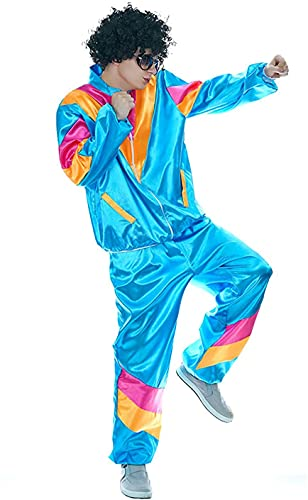 Men's Shiny 80s Shell Suit Costume