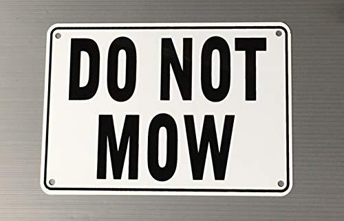 nonbrand Metal Plate Do Not Mow Tin Sign Gate Bar Kitchen Home Wall Garden Yard Art Decor 12'x8'