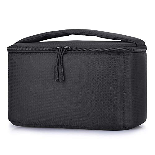 S-ZONE Padded Shockproof Foldable Partition Camera Insert Protective Bag for Case DSLR SLR TLR Lens Or Flash Light (Black)