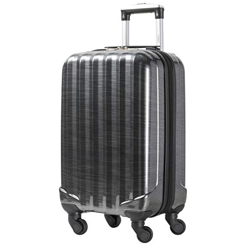 Flight Knight Suitcases Maximum for Delta, Virgin Atlantic, Ultra Lightweight 4 Wheel ABS Hard Case Suitcases Carry On Hand Luggage Approved for 48 Airlines Inc BA and TUI.