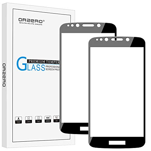(2 Pack) Orzero Compatible for Motorola Moto E5 Play, E5 Play Prime, E5 Cruise Tempered Glass Screen Protector, 2.5D Arc Edges 9 Hardness HD Anti-Scratch Full-Coverage (Lifetime Replacement)