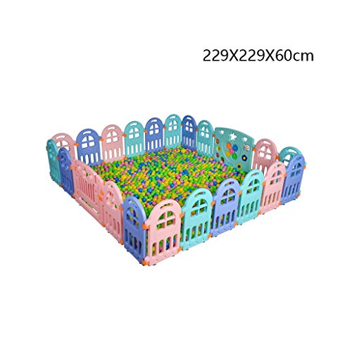 Best Review Of Baby Plastic Playpen with Activity Panel, Foldable Room Divider Child Kids Barrier Ex...