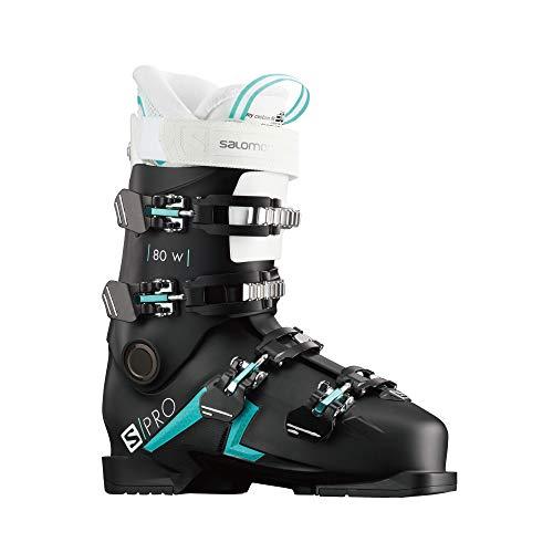 SALOMON Botas Alpinas S/Pro 80, esquí Mujer, Black/Scuba BLU, 38/39 EU