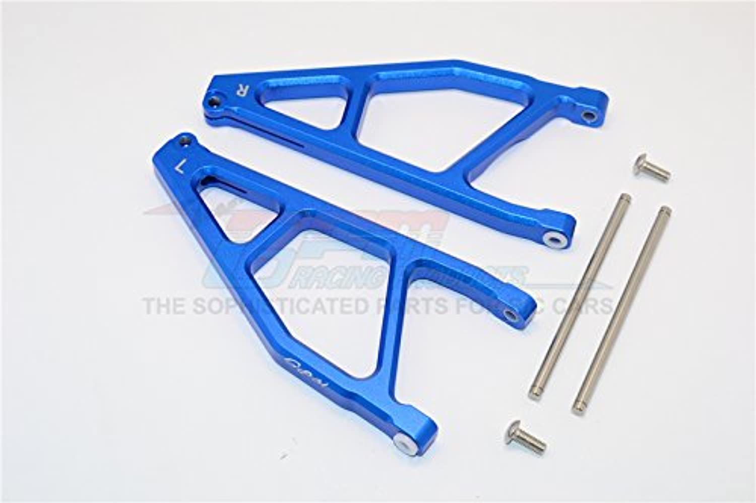 Arrma black 6S BLX (AR106009, AR106011) & Fazon 6S BLX (AR106020) Upgrade Parts Aluminum Rear Upper Arms -1Pr bluee