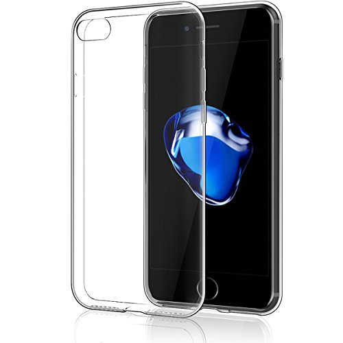 NEW'C Hülle für iPhone 7, iPhone 8 [Ultra transparent Silikon Gel TPU Soft] Cover Case Schutzhülle Kratzfeste mit Schock Absorption und Anti Scratch kompatibel iPhone 7, iPhone 8