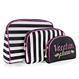 Once Upon A Rose Cosmetic Bag 3 Piece Set, Makeup Organizer, Toiletry Pouch