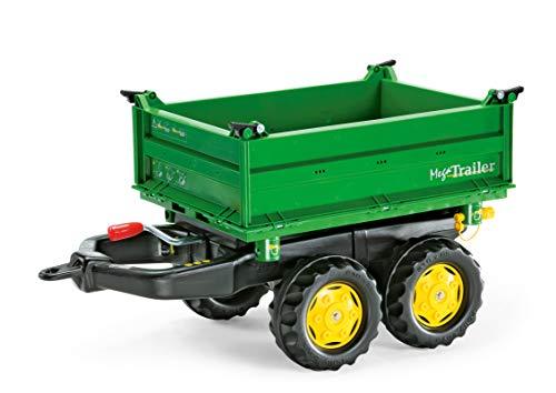 Rolly Toys rollyMega Trailer Anhänger (für Kinder von 2,5 bis 5 Jahren, Dreiseitenkipper, Heckkupplung, Zweiachsanhänger) 122004