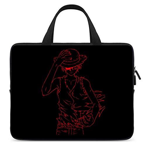 Anime de una pieza Luffy portátil impermeable bolsa de tableta bolsas para hombres y mujeres en una selección de cinco tamaños 10 12 13 15 17 pulgadas, color Multicolor, talla S