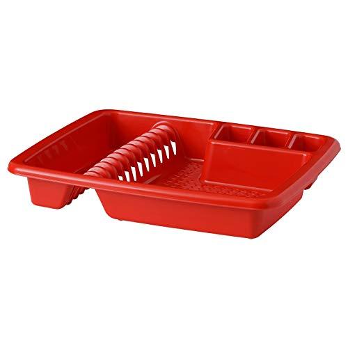 Dish Rack/Drainer, Polypropylene Plastic, 46 x 36 cm (Red)