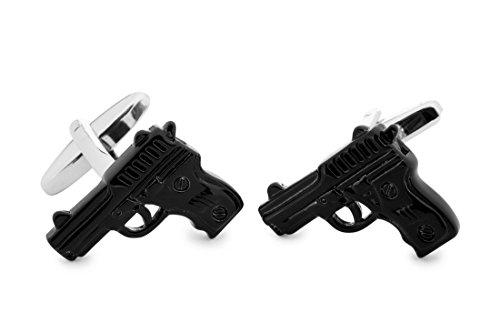 Sologemelos - Boutons De Manchette Pistolet - Noir - Hommes - Taille Unique