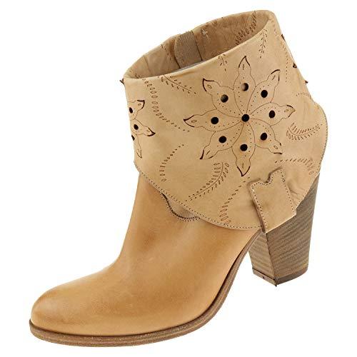 Julie Dee damesschoenen Tomaia J2028708 bruin dameslaarzen laarzen ritssluiting + schoenpoetshandschoen