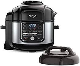 Ninja OS301 Foodi 10-in-1 Pressure Cooker and Air Fryer with Nesting Broil Rack, 6.5 Quart, Stainless Steel