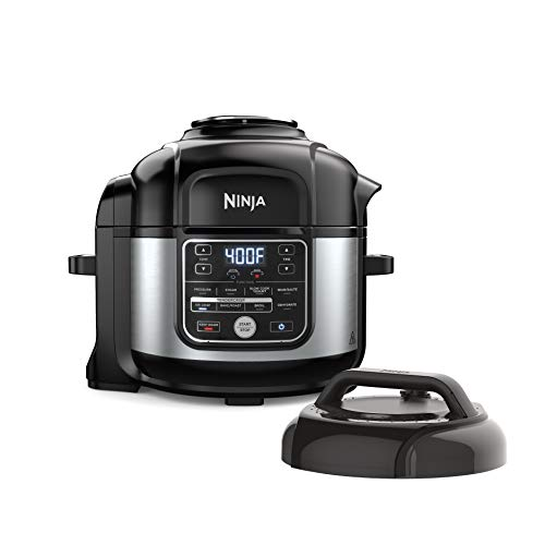 Ninja OS301 Foodi 10-in-1 Pressure Cooker and Air Fryer with Nesting Broil Rack, 6.5-Quart Capacity, and a Stainless Finish