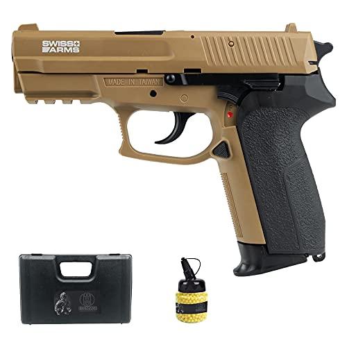 SA MLE HPA FDE (6MM) | Pistola de Airsoft (Bolas de plástico) de Muelle, Color FDE Tipo Sig Sauer SP2022