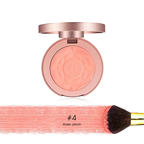 ROMANTIC BEAR Baked Poudre Blush et Fard à Joues Rose Maquillage Hightlight Avec Pinceau (A4)