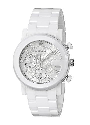 Gucci YA101353 - Orologio da polso Donna, Ceramica, colore: Bianco