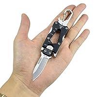 [Klinge] Die Klinge des Messers ist von 420 Edelstahl. Die Härte erreicht 56~57 HRC, und ist ideal für den täglichen Gebrauch, Freizeit, Arbeit, Angeln, Wandern, Camping und Sammeln. [EDC] Das Messer ist nur 10,2 cm lang und kann in der Tasche oder a...