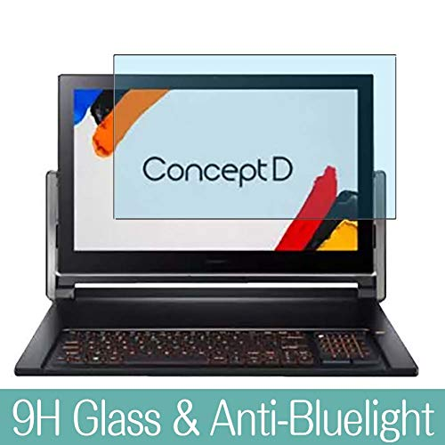 Synvy Anti Blue Light Tempered Glass Screen Protector Compatible with Acer ConceptD 9 Pro 17.3 Inch Visible Area 9H Protective Screen Film Protectors (Not Full Coverage)