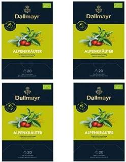 4 x Dallmayr Alpenkräuter Bio 20 Tee Pyramiden x 2,5g