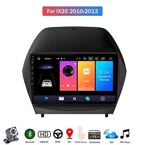 Android 9.1 Autoradio Stereo GPS Navigatore 2 Din con 9' Schermo, per Hyundai IX35 2010-2013 Bluetooth Vivavoce Microfono Integrato Supporto FM AM RDS Controllo del volante,4 core,4G+WiFi: 2+32GB