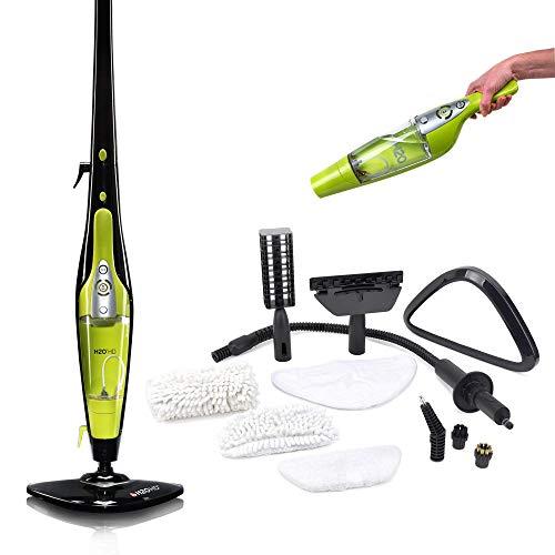 El Original H2O Mop HD| Limpiador de Vapor| Sistema de Limpieza a Base de Vapor| Limpiador de Vapor Multifunción| Fácil, Higiénico y Rápido de Usar| Color Verde