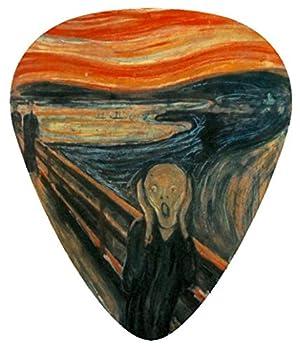 14-Pack Famous Paintings Van Gogh Mona Lisa Monet The Scream Picasso Starry Night .71mm Medium Unique 14 Epic Guitar Picks