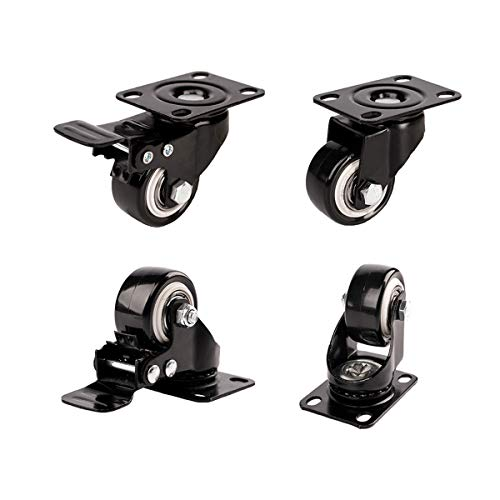 1.5' Swivel Caster Wheels with Safety Dual Locking...