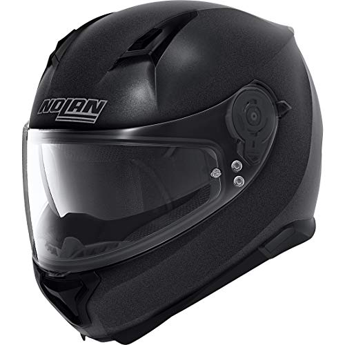 Nolan Special Plus N87 Polycarbonate N-Com Full Face Motorcycle Helmet – Graphite Black Size L