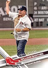 2017 Topps First Pitch #FP-1 William Shatner Baseball Card - Boston Red Sox