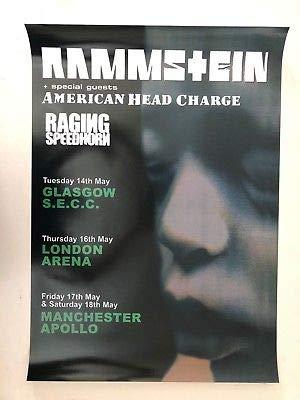 Rammstein,uk Tour Promo, Rare 2002 Promo Poster
