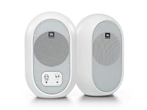 JBL プロフェッショナル 104-BTW-Y3 パワード 2Way フルレンジ・スタジオモニター スピーカー 3年保証モデル アンプ内蔵 30W+30W高出力 Bluetooth5.0対応 (ホワイト)