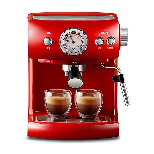 Máquina de café a vapor semiautomática, bomba italiana para solenoides, espumador de...