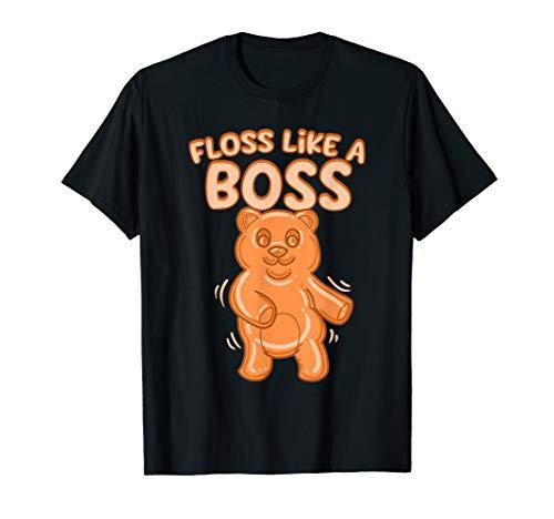 Floss Wie ein Chef Lustig Zahnseide Gummibärchen Tanzender T-Shirt
