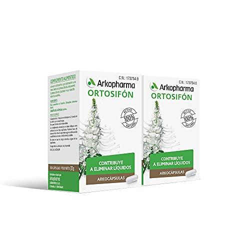 Arkopharma Arkocápsulas Ortosifón 100 Cápsulas Pack x2 |Ayuda a Eliminar Líquidos | Función Hepática | Control de Peso | Perder de Peso | Retención de Líquidos | Complemento Alimenticio