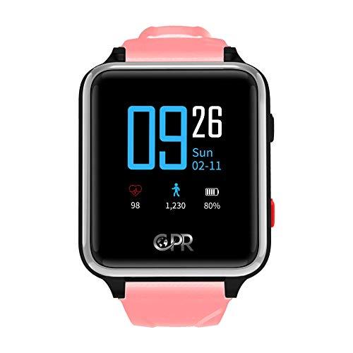 Reloj Inteligente CPR Guardian II para Padres y Seres Queridos, la próxima generación de protección en Caso de Emergencia. Mantener al Usuario Activo, Independiente y Seguro en Todo Momento (Rosa)