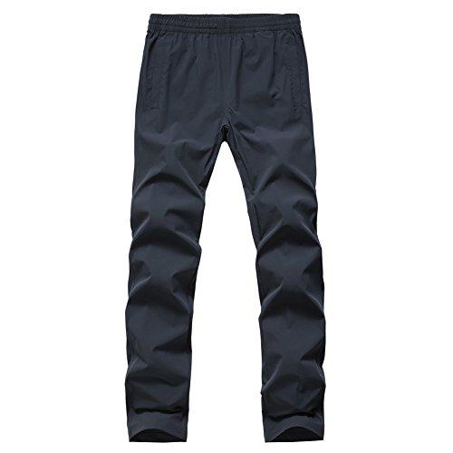Gitvienar Pantalon d'été pour homme Séchage rapide Pantalon de sport en lin Short en coton mélangé pour l'extérieur et le jogging