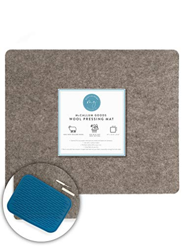 McCallum Goods Felted Wool Pressing Mat for Quilting 17X13.5 - Easy to Use Wool Ironing Mat - Portable Wool Pressing Pad - Densely Woven Felt Ironing Pad - Essential to Your Quilting Notions Toolkit