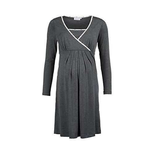 2HEARTS Still-Nachthemd We Love Basics/Umstandsmode Damen/Nachtwäsche mit Still-Funktion/grau