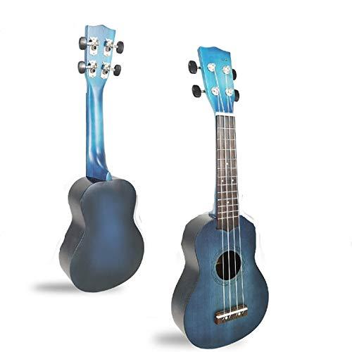 KEPOHK 21-Zoll-Konzert-Ukulele 4-saitig bemalte Mini-Gitarren-Performance-Musikinstrument für Kindergeschenk 21-Zoll-Blau